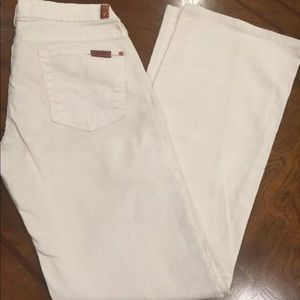 7 For All Mankind jeans Biscuit Beige Color Sz 26